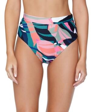 Thumbnail for your product : Raisins Juniors' Printed High-Waist Bikini Bottoms Women's Swimsuit