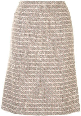 Chanel Pre Owned Woven Straight-Fit Skirt