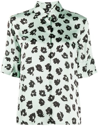 Equipment Abstract Floral-Print Shirt