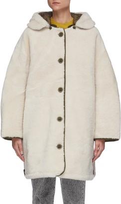Army by Yves Salomon Hooded reversible coat