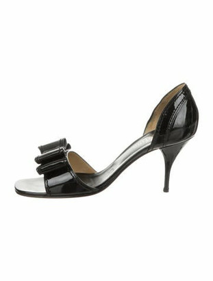 Valentino d'Orsay Bow Sandals Black