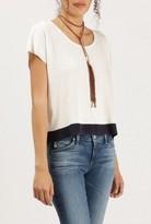 Azalea Bold Hem S/S Knit Top