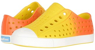 Native Jefferson Ombre (Toddler/Little Kid) (Crayon Yellow/Shell White/Fire Metallic Ombre) Kid's Shoes