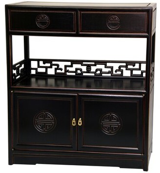 Slavin Display Accent Cabinet World Menagerie Color: Antique Black