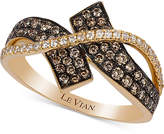 LeVian Le Vian Chocolatier Diamond Bypass Ring (5/8 ct. t.w.) in 14k Gold