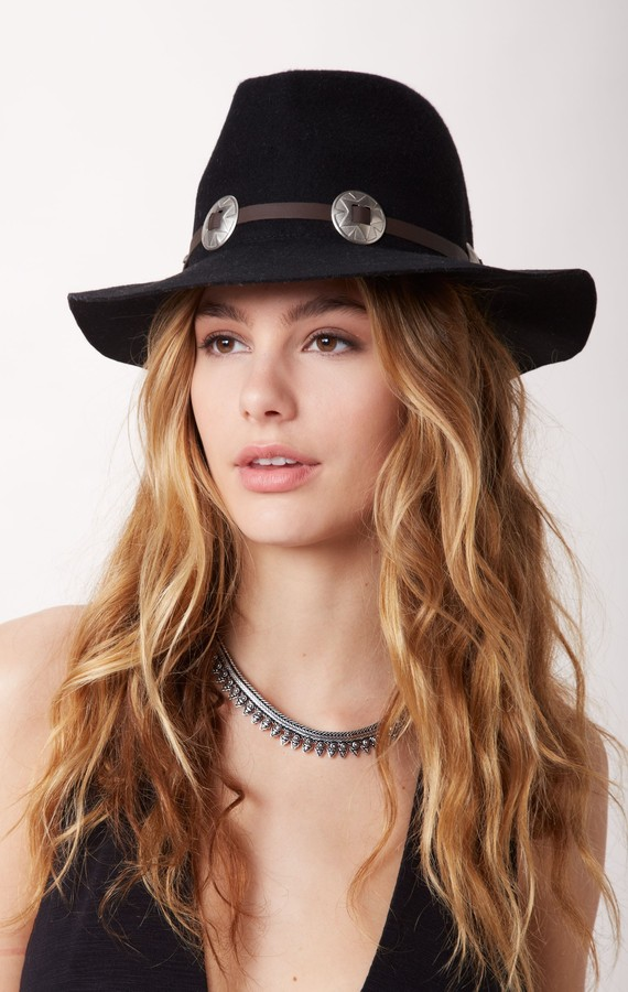 Lovely bird Fedora Hat With Concho