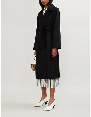 Max Mara Manuela camel-hair wrap coat, Women's, Size: 6, Black