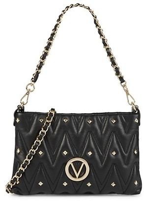 Valentino By Mario Valentino Vanille D Studded Leather Shoulder Bag