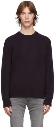 Rag & Bone Purple Cashmere Haldon Sweater