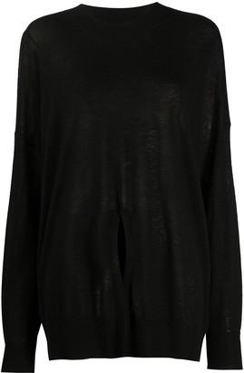 Zadig & Voltaire Cashmere Fine Knit Jumper With Front Slit