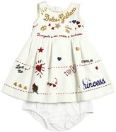 Dolce & Gabbana Printed Interlock Dress & Diaper Cover