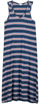 True Grit Dylan by True Blues Long Tank Dress in Coastal Stripe (Indigo) Women's Clothing