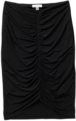 Abound Ruched Front Midi Skirt