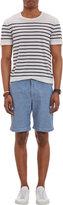 Barneys New York Chambray Slim Shorts