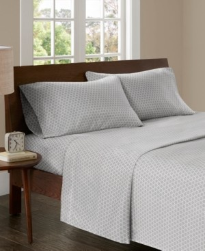 Madison Home USA 3M Microcell Print 4-pc Queen Sheet Set Bedding