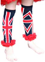 Petitebella Union Jack British Cotton Leg Warmer Navy Blue Sock Clothing Accessory 2-6y