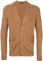 Alexander McQueen distressed cardigan - men - Cashmere - M