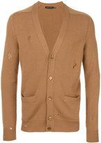 Alexander McQueen distressed cardigan - men - Cashmere - S