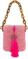 Maison Alma Bahia Top-Handle Basket Bag w/ Tassels