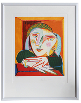 Femme Accoudee a sa Fenetre after Pablo Picasso by Pablo Picasso Estate (Framed Lithograph)
