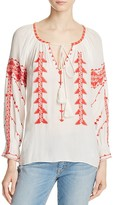 Parker Felicia Embroidered Peasant Top