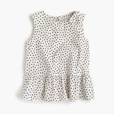 J.Crew Girls' peplum top in hearts