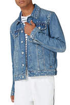 Topman Studded Denim Jacket