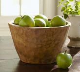Pottery Barn Vintage Wood Carved Large Serve Bowl