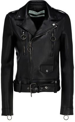 Off-White Arrows Leather Biker Jacket