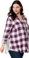 Motherhood Wendy Bellissimo Plus Size Back Interest Maternity Top