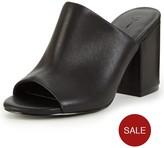 Very Cora Leather Block Heeled Mule