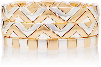 Roxanne Assoulin Raise The Bar Set-Of-Three Two-Tone Bracelets