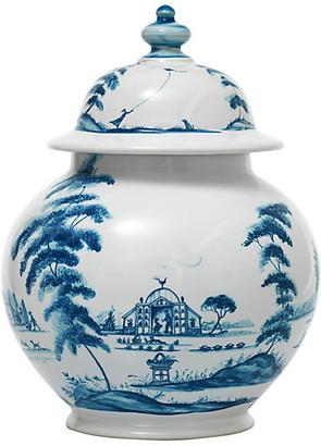 Juliska Country Estate Lidded Ginger Jar - Delft Blue