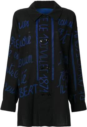 JC de CASTELBAJAC Pre Owned handwritting printed shirt