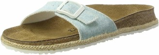 Papillio Womens Madrid Birko-Flor Mules Blue Size: 3 UK