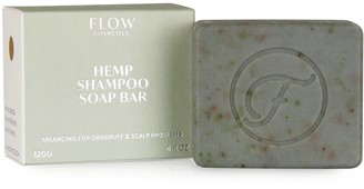 Flow Cosmetics Hemp Shampoo Soap Bar Balancing For Dandruff & Scalp Problems
