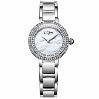 Rotary Womens Analogue Classic Quartz Watch with Stainless Steel Strap LB05085/41