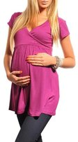 Purpless Maternity New Maternity Top Tunic Vneck Pregnancy Clothing Wear 5058