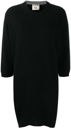 Semi-Couture Fine-Knit Crew-Neck Dress
