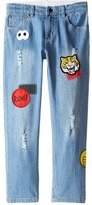 Stella McCartney Lohan Skinny Denim Jeans with Patches Boy's Jeans