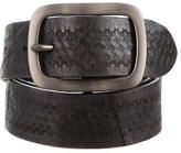 John Varvatos Patterned Leather Belt