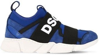 DSQUARED2 Logo Slip-on Leather & Neproene Sneakers