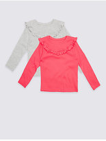 Marks and Spencer 2 Pack Cotton Rich Frill Tops (3 Months - 5 Years)