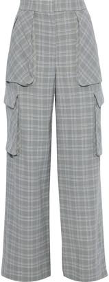 Prabal Gurung Checked Wool Wide-leg Pants