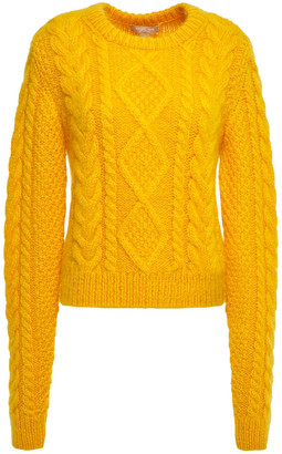 Michael Kors Cable-knit Mohair-blend Sweater