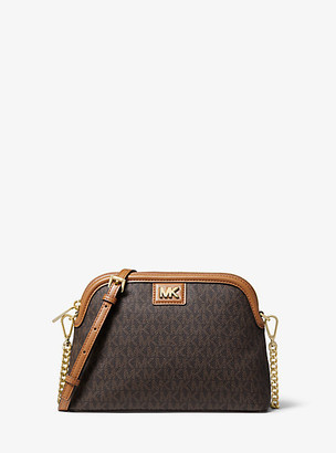 MICHAEL Michael Kors MK Large Logo Dome Crossbody Bag - Vanilla/acorn - Michael Kors