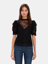 Free People Secret Admirer Sheer Lace Blouse