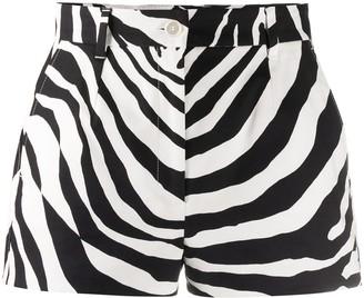Dolce & Gabbana Zebra Print Shorts
