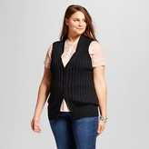 Who What Wear Women's Plus Size Sleeveless Rib Cardigan