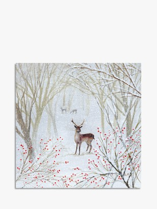 Museums & Galleries Deer in Midwinter Christmas Cards, Pack of 8
